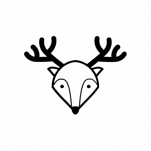 celebration, christmas, deer, greeting, reindeer, santa, xmas icon