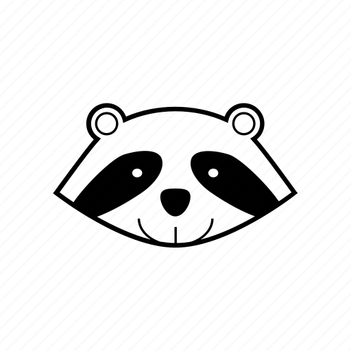 animal, forest, jungle, nature, raccoon, wildlife icon