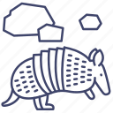 animal, armadillo, armor, wild icon