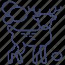 animal, buck, deer, elk icon