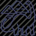 animal, dinosaur, diplodocus, jurassic icon
