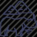 animal, rhino, rhinoceros, zoo icon