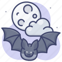 animal, bat, fear, halloween icon