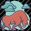 animal, animals, buffalo, bull icon