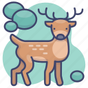 animal, elk, deer, buck icon