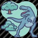 animal, dinosaur, jurassic, rex icon