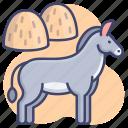 animal, burro, donkey, mule icon