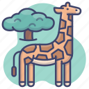 africa, animal, giraffe, zoo icon