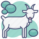 animal, goat, mutton, zoo icon