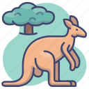animal, kangaroo, wild, zoo icon