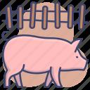 animal, farm, pig, piglet icon