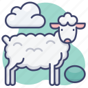 alpaca, animal, animals, sheep icon