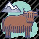 animal, bison, buffalo, yak icon