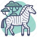 animal, wild, zebra, zoo icon