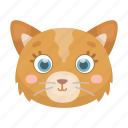 animal, cat, cute, muzzle, pet, toy icon