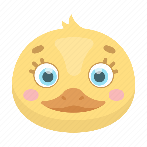 animal, cute, duckling, muzzle, pet, toy icon