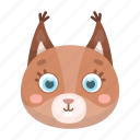 animal, cute, muzzle, squirrel, toy, wild icon
