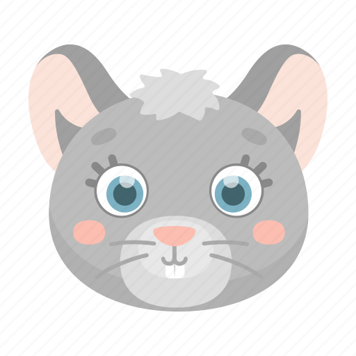 animal, cute, mouse, muzzle, toy icon