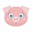 animal, cute, muzzle, penny, pet, pig, toy icon