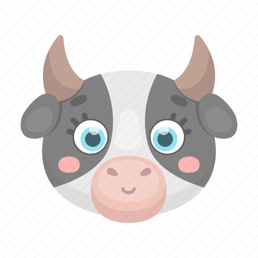 Animal, cow, cute, muzzle, pet, toy icon - Download on Iconfinder
