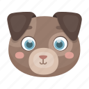 animal, cute, dog, muzzle, pet, toy icon