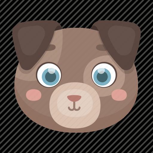 animal, cute, dog, muzzle, pet, toy icon