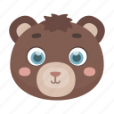 animal, bear, cute, muzzle, toy, wild icon