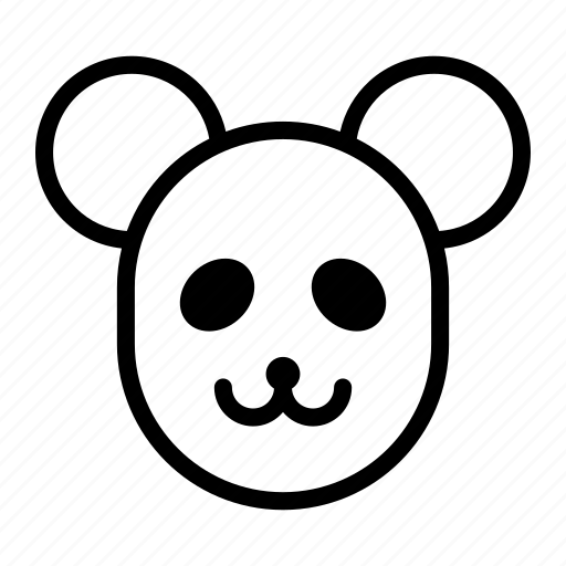 animal, bear, china, panda bear icon