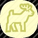 deer, reindeer, rudolph, wild icon