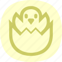 chick, chicken, easter, egg icon