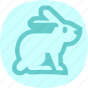 bunny, cartoon, cute, rabbit icon