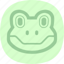 amphibian, frog, frog plate, nature icon