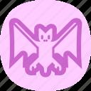 bat, cave, halloween, monster icon