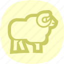 animal, animals, ram, tup icon