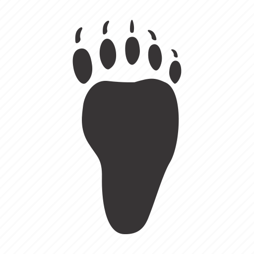 back-paw, bear, foot, trace icon