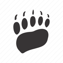 bear, foot, front-paw, trace icon