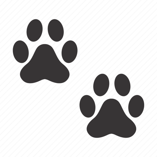 cat, foots, paws, traces icon