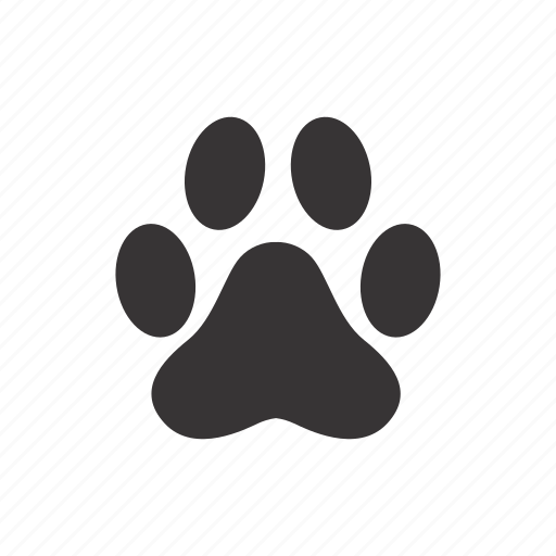cat, foot, paw, trace icon