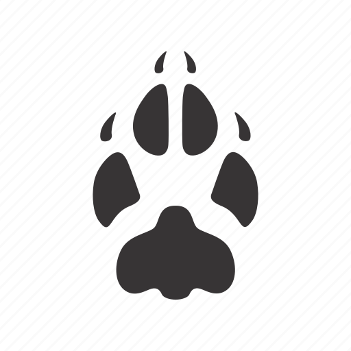 foot, fox, paw, trace icon