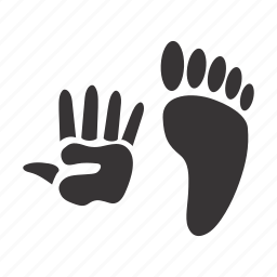 hand, human, leg, traces icon