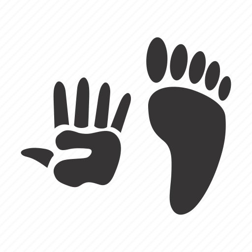 Hand, human, leg, traces icon - Download on Iconfinder