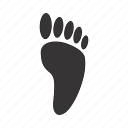 foot, human, trace icon