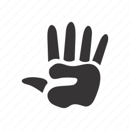 hand, human, trace icon