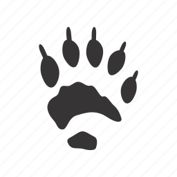 foot, front-paw, trace, wolverine icon
