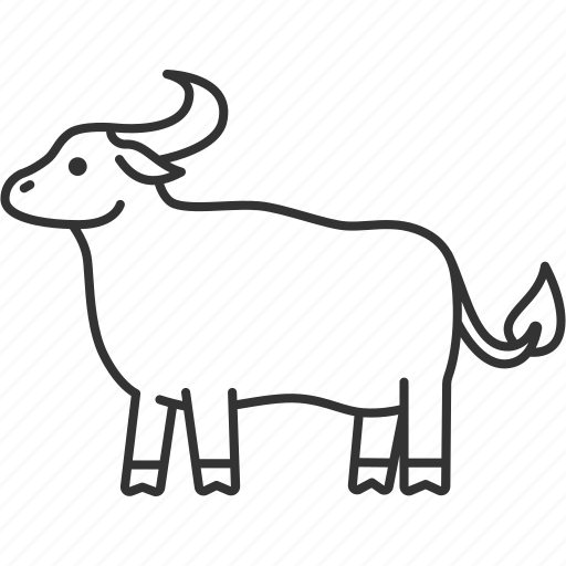 Buffalo, calf, cattle, mammal, animal icon - Download on Iconfinder