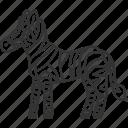 zebra, wildlife, herbivore, safari, mammal