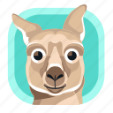 animal, australia, kangaroo, mammals, wildlife, zoo icon