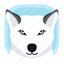 animal, arctic wolf, wildlife, wolf, zoo icon
