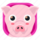 animal, food, pet, pig, zoo icon