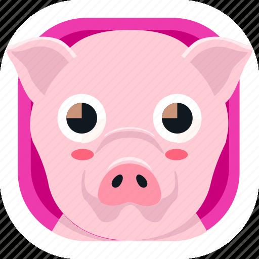animal, food, pet, pig, zoo icon